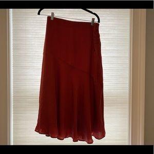 Brand new, never worn Mauve midi skirt!